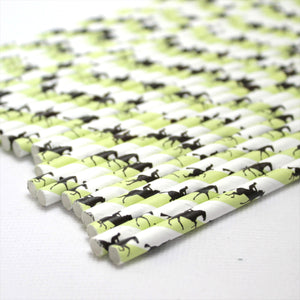 Horse Racing Paper Straws (6mm x 200mm) - Biodegradable / Eco-Friendly / Food Safe - Intrinsic Paper Straws