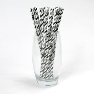 Blues / Jazz Paper Straws (6mm x 200mm) - Biodegradable / Eco-Friendly / Food Safe - Intrinsic Paper Straws