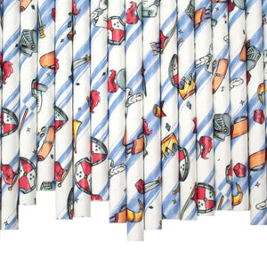 Knights Paper Straws (6mm x 200mm) - Biodegradable / Eco-Friendly / Food Safe - Intrinsic Paper Straws