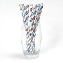 Load image into Gallery viewer, Individually Wrapped Knights Paper Straws (6mm x 200mm) - Intrinsic Paper Straws