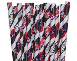 London Paper Straws (6mm x 200mm) - Biodegradable / Eco-Friendly / Food Safe - Intrinsic Paper Straws