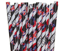 Load image into Gallery viewer, Individually Wrapped London Paper Straws (6mm x 200mm) - Biodegradable / Eco-Friendly / Food Safe - Intrinsic Paper Straws