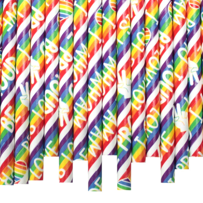 Pride Paper Straws (6mm x 200mm) - Biodegradable / Eco-Friendly / Food Safe - Intrinsic Paper Straws