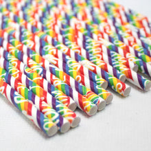 Load image into Gallery viewer, Individually Wrapped Pride Paper Straws (6mm x 200mm) - Biodegradable / Eco-Friendly / Food Safe - Intrinsic Paper Straws