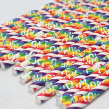 Load image into Gallery viewer, Individually Wrapped Pride Paper Straws (6mm x 200mm) - Intrinsic Paper Straws