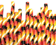 Load image into Gallery viewer, Safari Paper Straws (6mm x 200mm) - Biodegradable / Eco-Friendly / Food Safe - Intrinsic Paper Straws