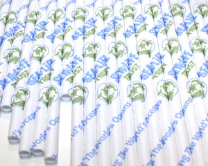 SEA LIFE Trust Paper Straws V1 (6mm x 200mm) - Biodegradable / Eco-Friendly / Food Safe - Intrinsic Paper Straws