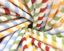Load image into Gallery viewer, Striped Paper Straws - Mixed Colours (6mm x 200mm) - Intrinsic Paper Straws