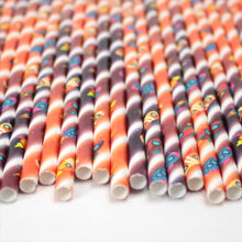 Load image into Gallery viewer, Individually Wrapped Space Rockets Paper Straws (6mm x 200mm) - Intrinsic Paper Straws