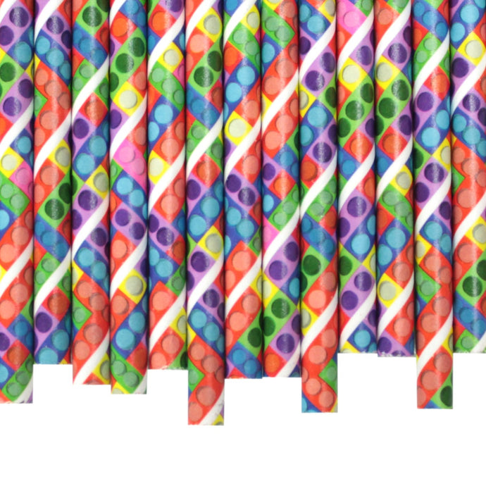 Toy Bricks Paper Straws (6mm x 200mm) - Biodegradable / Eco-Friendly / Food Safe - Intrinsic Paper Straws