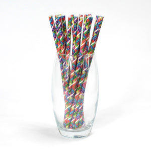 Individually Wrapped Toy Bricks Paper Straws (6mm x 200mm) - Intrinsic Paper Straws