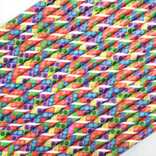 Load image into Gallery viewer, Individually Wrapped Toy Bricks Paper Straws (6mm x 200mm) - Biodegradable / Eco-Friendly / Food Safe - Intrinsic Paper Straws