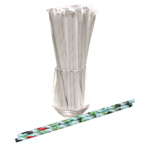 Individually Wrapped Video Games Paper Straws (6mm x 200mm)