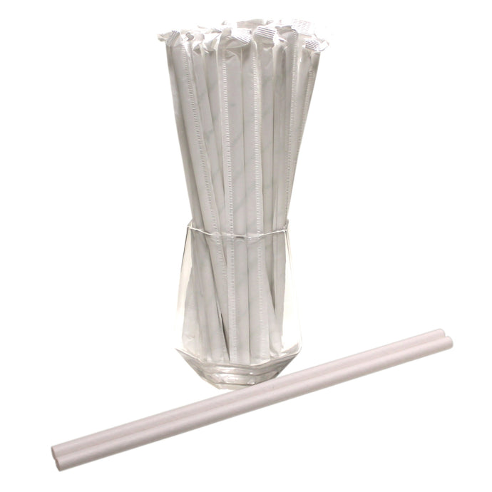 Individually Wrapped White Paper Straws (6mm x 200mm) - Intrinsic Paper Straws