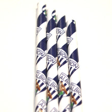 Load image into Gallery viewer, West Brom Paper Straws (6mm x 200mm) - Biodegradable / Eco-Friendly / Food Safe - Intrinsic Paper Straws