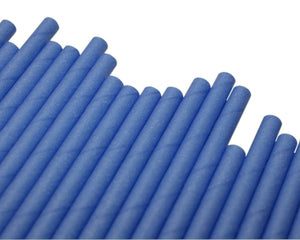 Individually Wrapped Blue Paper Straws (6mm x 200mm) - Intrinsic Paper Straws