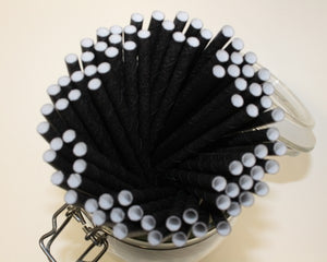 Kraft Wrapped Black Paper Straws (6mm x 200mm) - Biodegradable / Eco-Friendly / Food Safe - Intrinsic Paper Straws