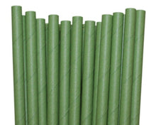 Load image into Gallery viewer, Individually Wrapped Green Paper Straws (6mm x 200mm) - Intrinsic Paper Straws