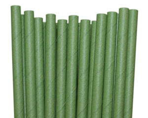 Individually Wrapped Green Paper Straws (6mm x 200mm) - Intrinsic Paper Straws