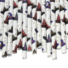 Load image into Gallery viewer, Individually Wrapped Witches Paper Straws (6mm x 200mm) - Intrinsic Paper Straws