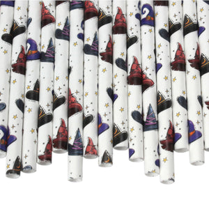 Individually Wrapped Witches Paper Straws (6mm x 200mm) - Intrinsic Paper Straws