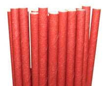 Load image into Gallery viewer, Individually Wrapped Red Paper Straws (6mm x 200mm) - Intrinsic Paper Straws