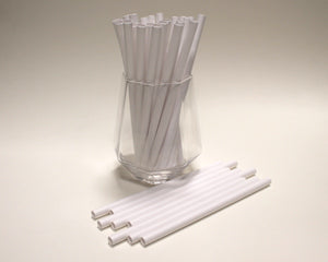 White Paper Straws (8mm x 160mm) - Biodegradable / Eco-Friendly / Food Safe - Intrinsic Paper Straws