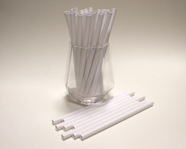 White Paper Straws (8mm x 160mm) - Intrinsic Paper Straws