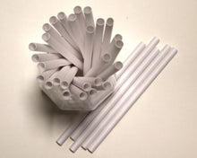 Load image into Gallery viewer, White Paper Straws (8mm x 160mm) - Intrinsic Paper Straws