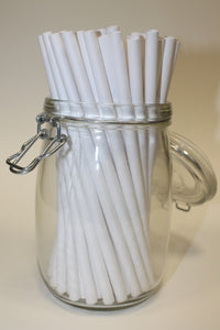 White Paper Straws (8mm x 200mm) - Intrinsic Paper Straws