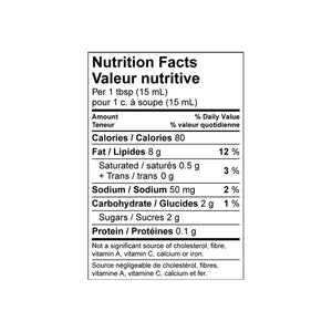 Andy's Original™ Honey Dill - Nutritional Panel