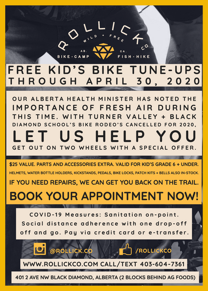 Free Kid's Bike Tune-ups for April