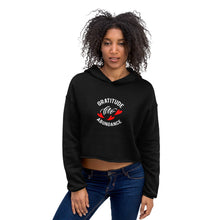 "Load image into Gallery viewer, Life is all about "" Gratitude, Love and Abundance"" feel it with this Premium Quality Crop Hoodie"