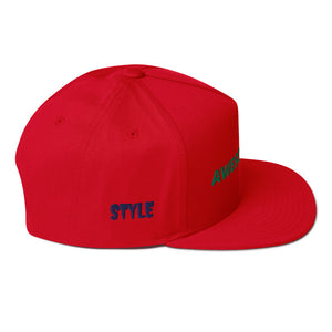 "What better way to feel your ""AWESOMENESS  in style"" Premium Quality Flat Bill Cap"