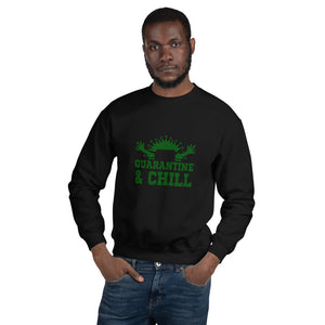 "Premium sexy Sweatshirt Uplifted: Just Relax with ""Quarantine and Chill"""