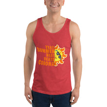 "Load image into Gallery viewer, Unisex Tank Top "" Yea!!!! Summer Heat beats Corona"""