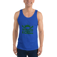 "Load image into Gallery viewer, Unisex Tank Top : Relax Relax with ""Quarantine and Chill"""