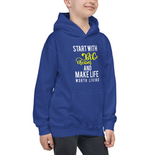 "Load image into Gallery viewer, Premium 2019 Kids Hoodie "" Feel Good with this beautiful "" Start With Big dreams and make life worth living"""