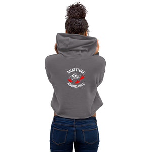 "Life is all about "" Gratitude, Love and Abundance"" feel it with this Premium Quality Crop Hoodie"