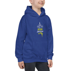 "Premium Quality Kids Hoodie ""inspirational quote "" Man Cannot Live Without Spiritual Life"""
