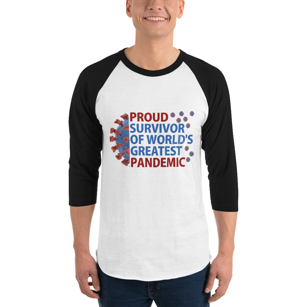 Sexy 3/4 sleeve Custom raglan shirt with uplifting energy quote