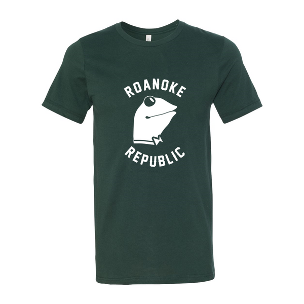 white roanoke brand tee - The Columbian Exchange Group