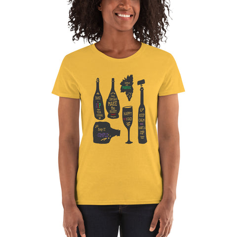 Take a Sip Women's Tee | Happy Hours - The Columbian Exchange Group