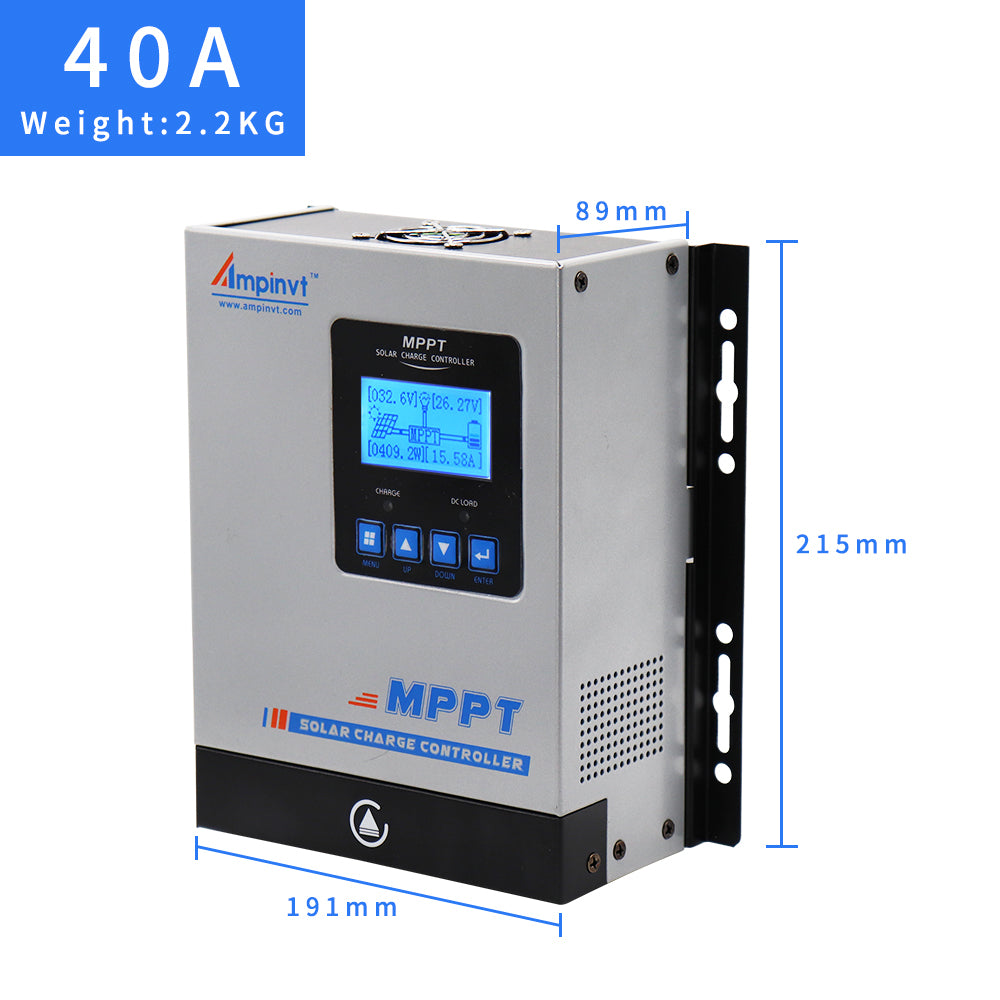 US 40A MPPT Solar Charge Controller 12V//24V//36V//48V Battery Regulator PV 150V