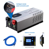Ampinvt 5000W Peak 15000watts Pure Sine Wave Power Inverter  DC to 120/240 VAC Split Phase with Battery AC Charger,Off Grid Low Frequency Solar Inverter