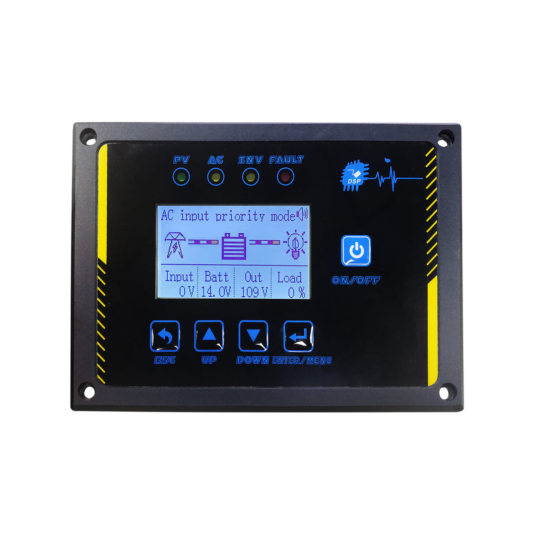 AMPINVT Specific Remote Control Panel for Low Frequency Pure Sine Wave Power Inverter