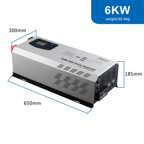 Ampinvt 6000W Peak 18000W Pure Sine Wave Power Inverter Charger DC to Split Phase Inverter 120V/240V AC Output