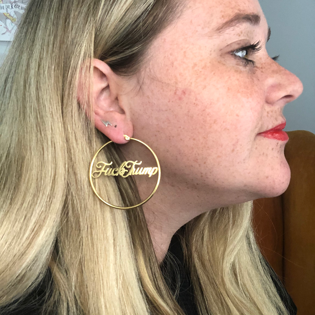 F*ck Trump Earrings