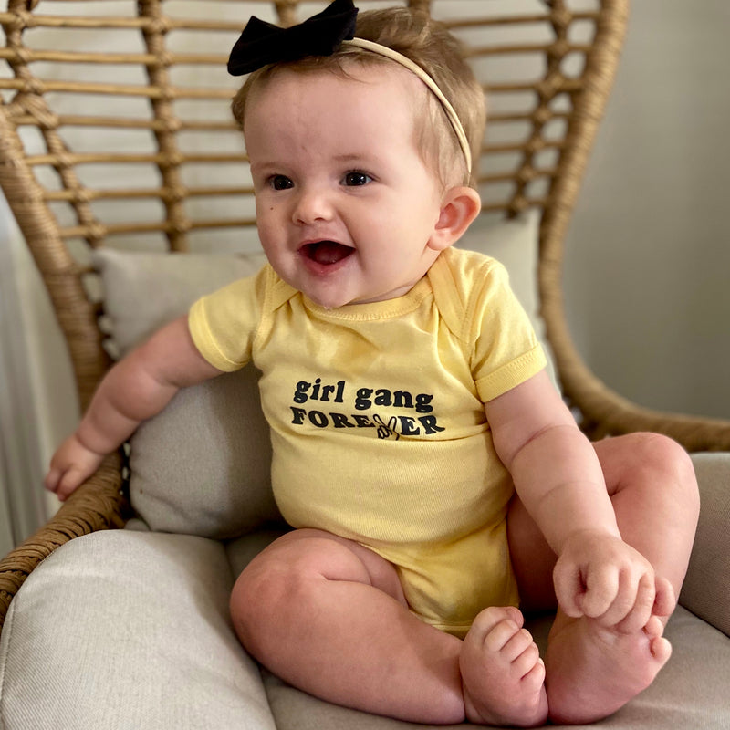 Girl Gang Onesie, Yellow