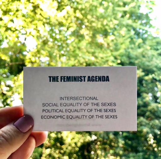 The Feminist Agenda, Wallet Insert